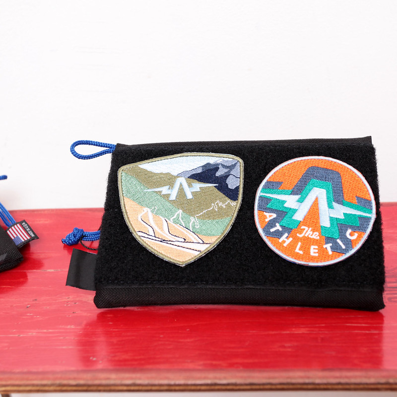 The Athletic Patch Pouch - Mountain Tops or BBall / Transmission A