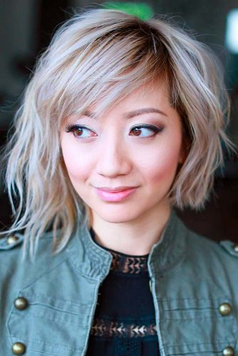 Latest Bold & Daring Asymmetrical Bob Haircuts+40 Shapely Styles 7