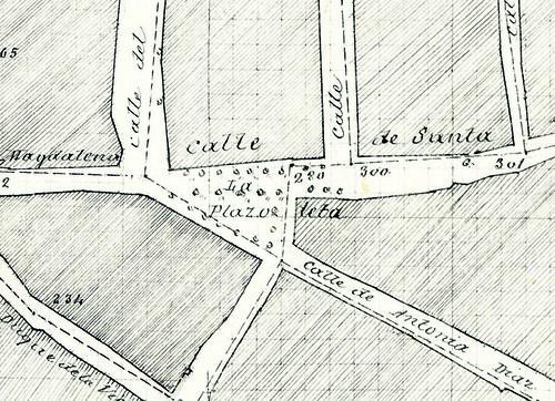 Callejero histórico La Plaza Menéndez y Pelayo