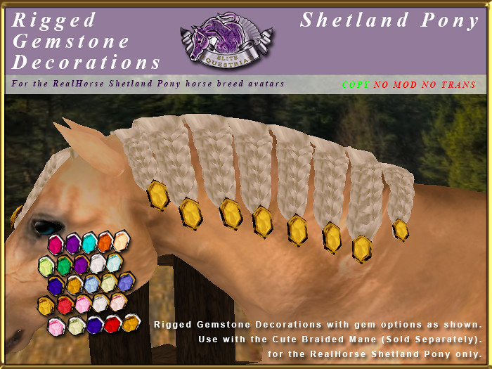 E-RH-Shetland-ManeSet-GemstoneCuteBraidDecorations - TeleportHub.com Live!