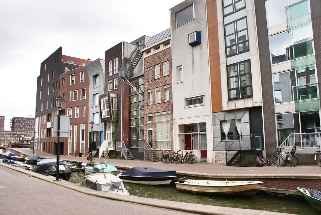 Sur l'île nouvelle de Java-eiland dans l'est d'Amsterdam.