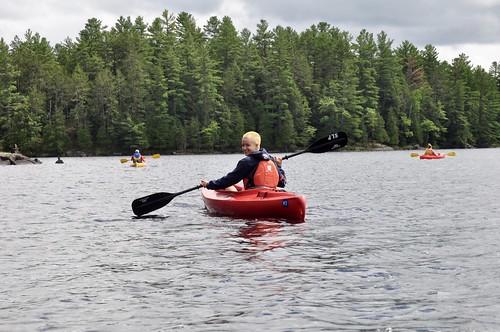 Exploring Silent Lake by kayak
