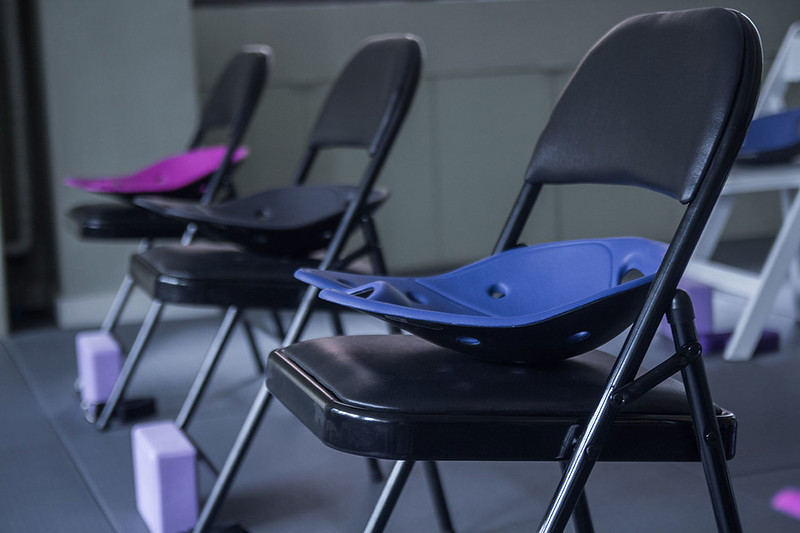 Chair yoga at Yoga Plus