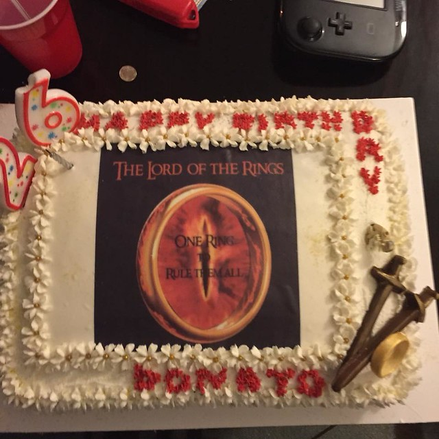lord of the Rings Birthday Cake by Norma Brooks