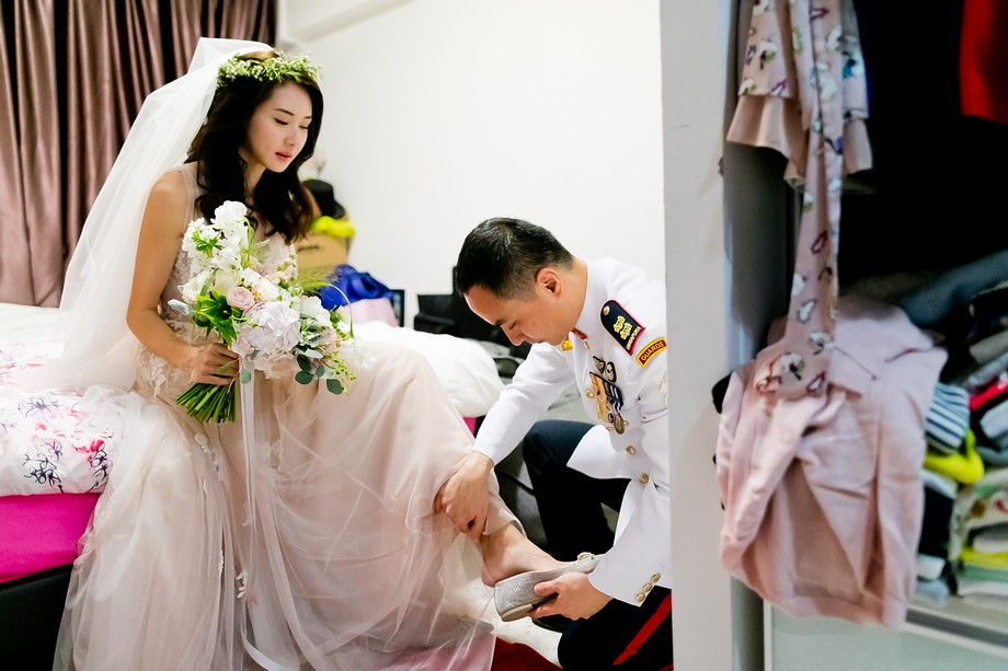 Singapore Military Style Wedding with Sword Bearers