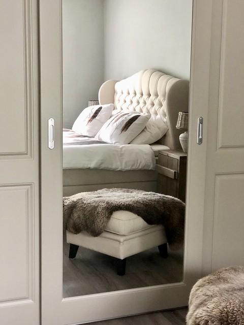 Slaapkamer kast met spiegel klassiek landelijk