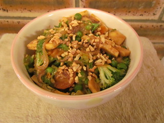 Szechuan Stir-Fry with Fiery Peanut Sauce