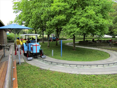 tractors in theme park