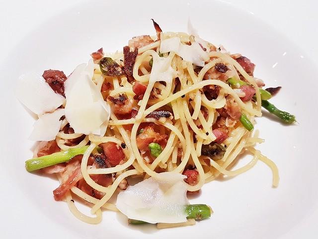 Pasta Spaghetti Di Pancetta E Asparagi