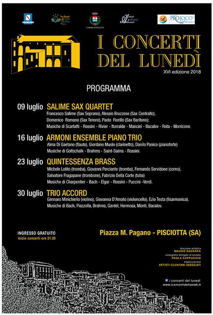 Locandina Concerti Pisciotta '18