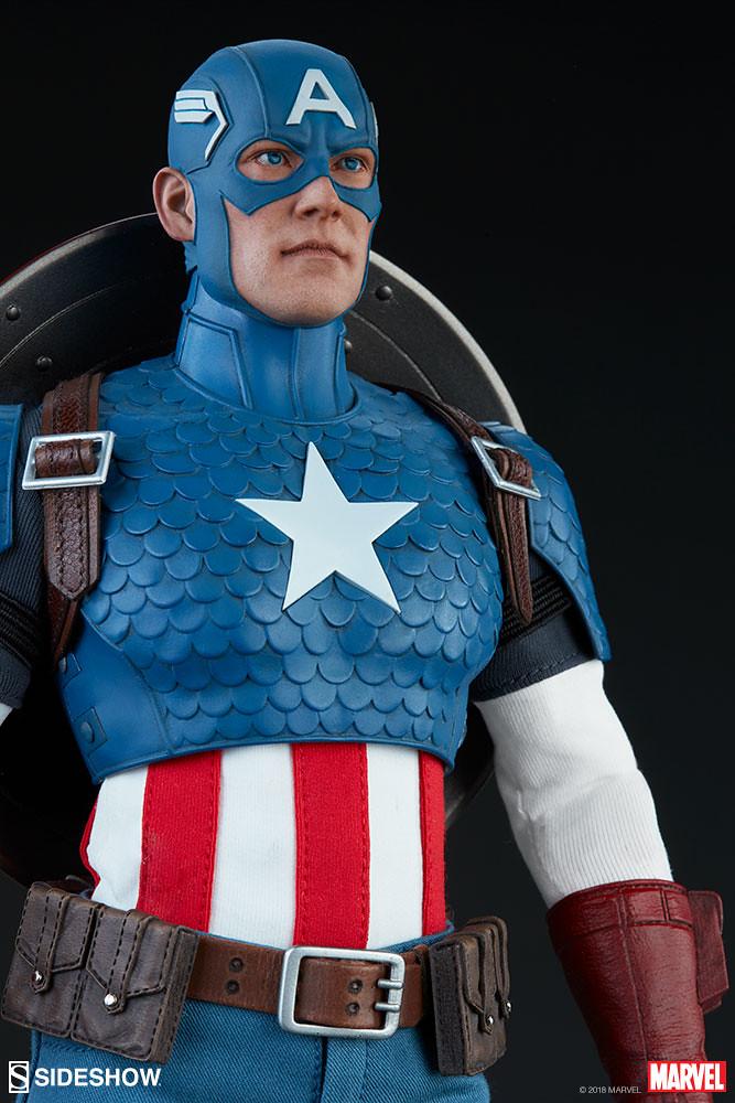 經典的復古造型最對味~ Sideshow Collectibles Marvel Comics【美國隊長】Captain America 1/6 比例人偶作品