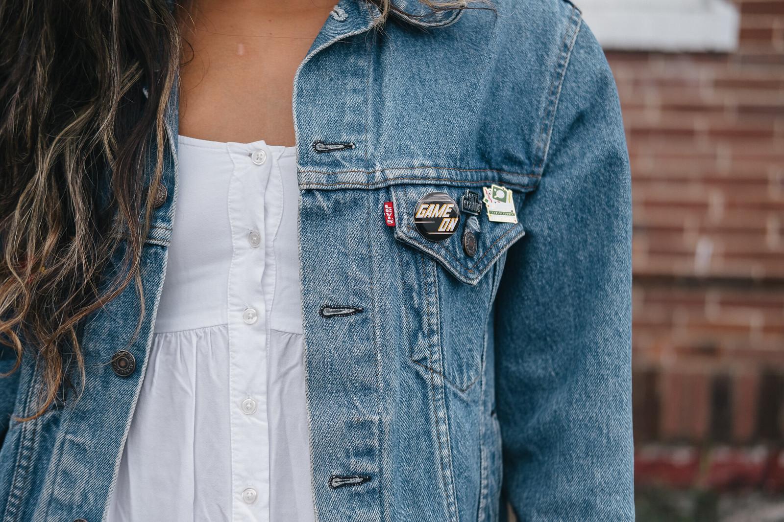 Priya the Blog, Nashville fashion blog, Nashville fashion blogger, Nashville style blog, Nashville style blogger, Summer outfit, white sundress for Summer, black booties for Summer, how to wear booties in the Summer, Girlactik lip paint, Rag & Bone Harrow booties, oversized denim jacket, vintage jean jacket