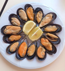 Comida mejillones al vapor Fuengirola Malaga