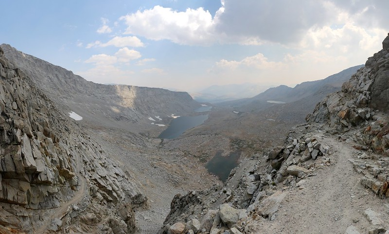 View south from Forester Pass on the John Muir Trail