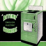 Sat, 2018-07-21 19:44 - A [1948] fold out leaflet by The English Electric Co. Ltd. on the 'Ritemp' range of electric cookers made at the firm's Preston factory. With the oven temperature controlled by thermostat, you just 'set it - forget it!' (well, except that you shouldn't forget to switch it off at the right time - there's no timer.).