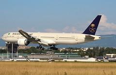 Saudia. HZ-AK44. Boeing 777-368(ER). GVA.