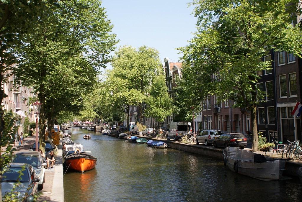 Un autre joli canal d'Amsterdam du côté du Jordaan.