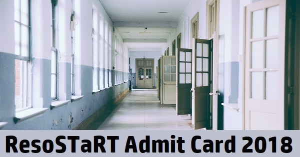 resostart admit card