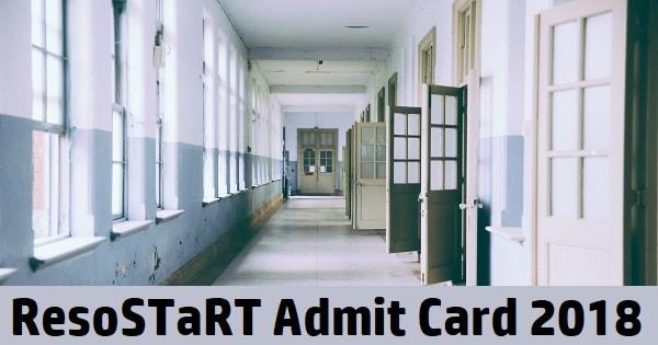 resostart admit card