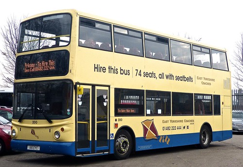 A16 EYC 'East Yorkshire Motor Services' No. 200 'East Yorkshire Coaches'. Volvo B7TL / Alexander ALX 400 on Dennis Basford's railsroadsrunways.blogspot.co.uk'