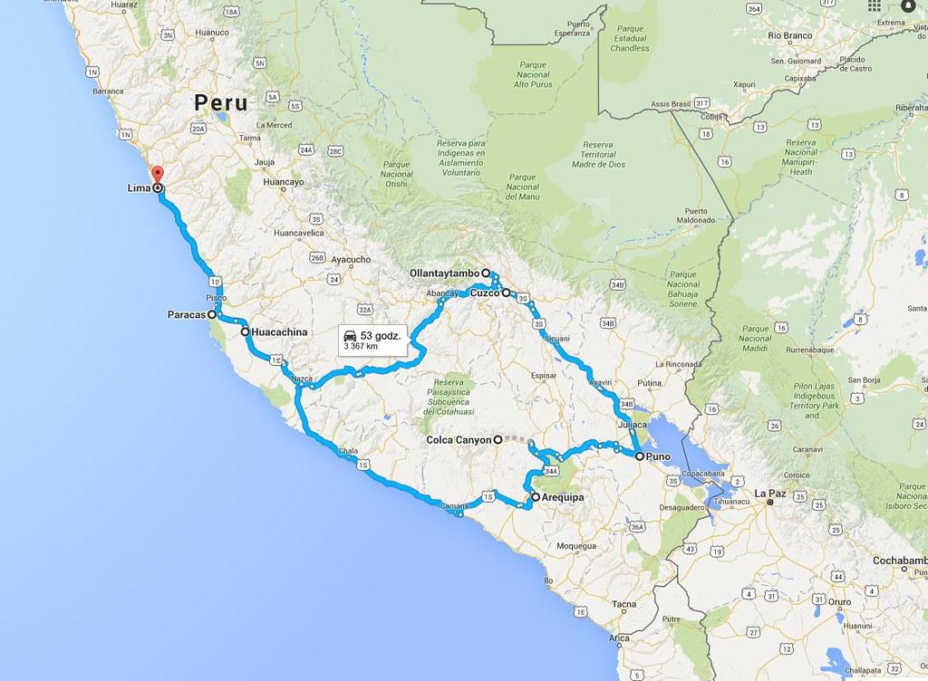 Trasa Peru na dwa tygodnie