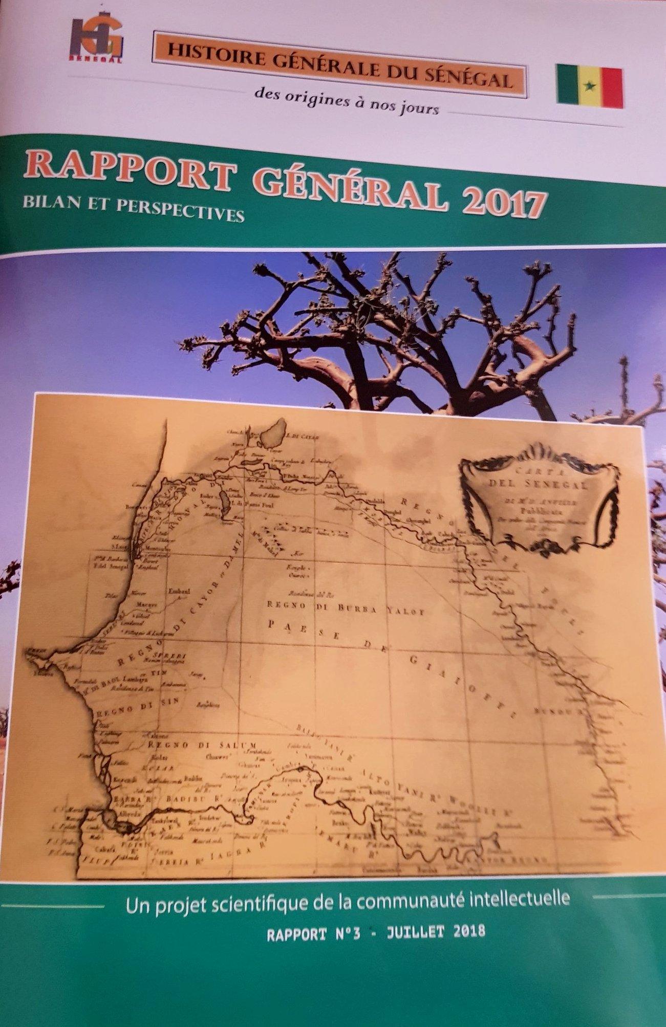 Rapport sur la rédaction de l'Histoire Générale du Sénégal