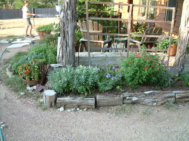 Front yard flower beds flickr photo sharing for Small flower beds front homes