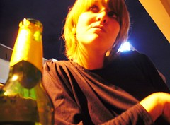 jen with beer