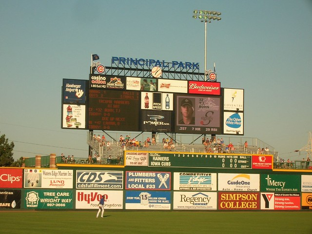 Iowa Cubs AAA Baseball, Des Moines, Iowa from Flickr via Wylio