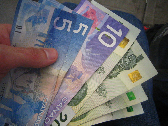 Canadian money is pretty!