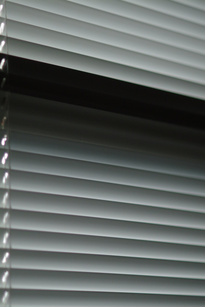 Mini Blinds in Shades of Grey