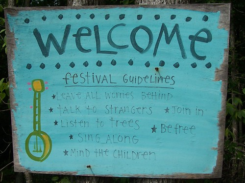 Welcome (Clear Creek Music Festival sign) by paynehollow