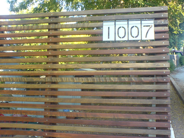 Modern Wood Fence : Modern Fence  w/ Solar LED Numbers  By: fason  Flickr - Photo ...
