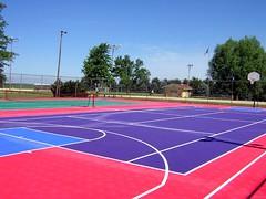 sport venue, tennis court, sports, basketball court,