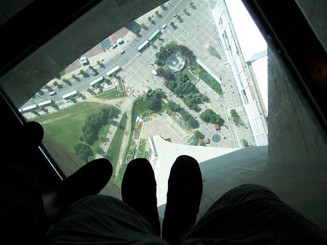 CN Tower Glass Floor 300 M High By Sergipib Flickr Photo