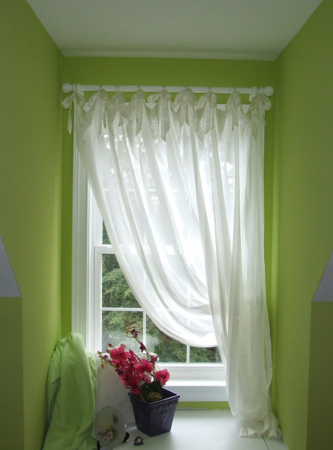 Curtains With Ribbon Ties Roman Shades with Ribbon Ties
