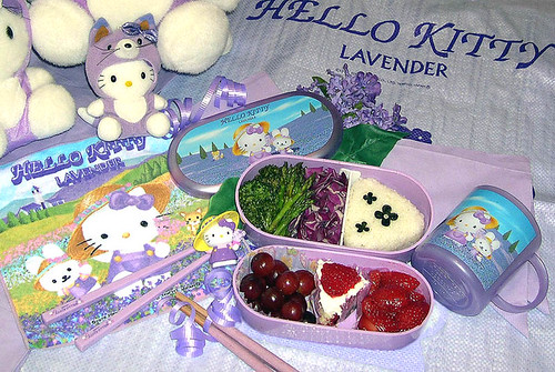 Hello Kitty lavender bento 9-01-06
