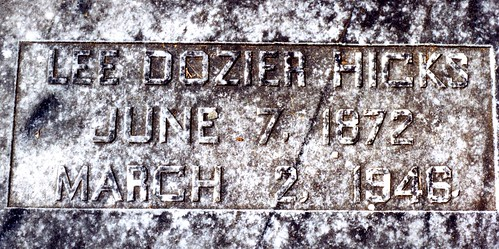 Grave of Dozier Hicks