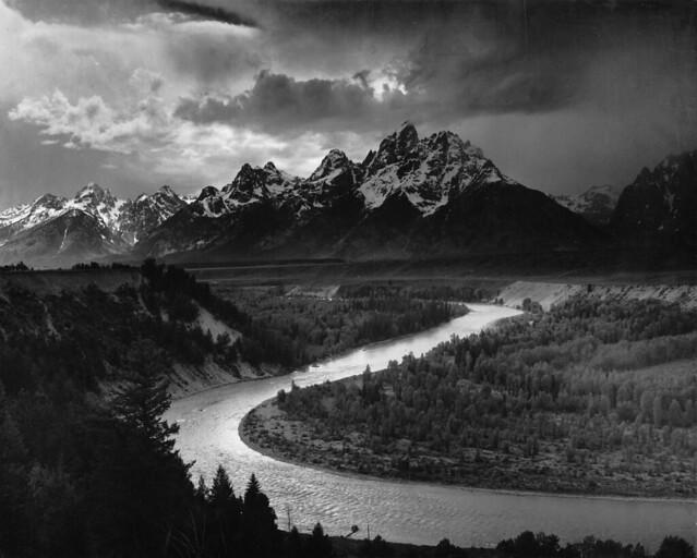 Public Domain: Tetons by Ansel Adams, 1942 (National Parks Service/NARA)