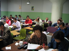Medicare Survey at ESL School 10-24-06 (9) by Korean Resource Center 민족학교