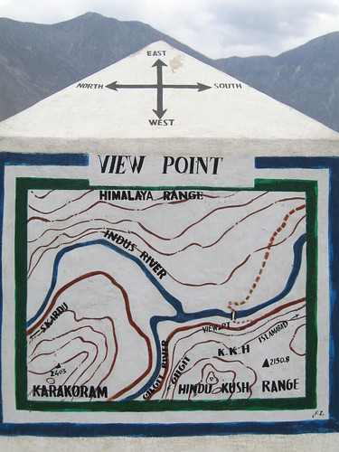 The viewpoint on the Karakoram Highway where the three mountain ranges meet