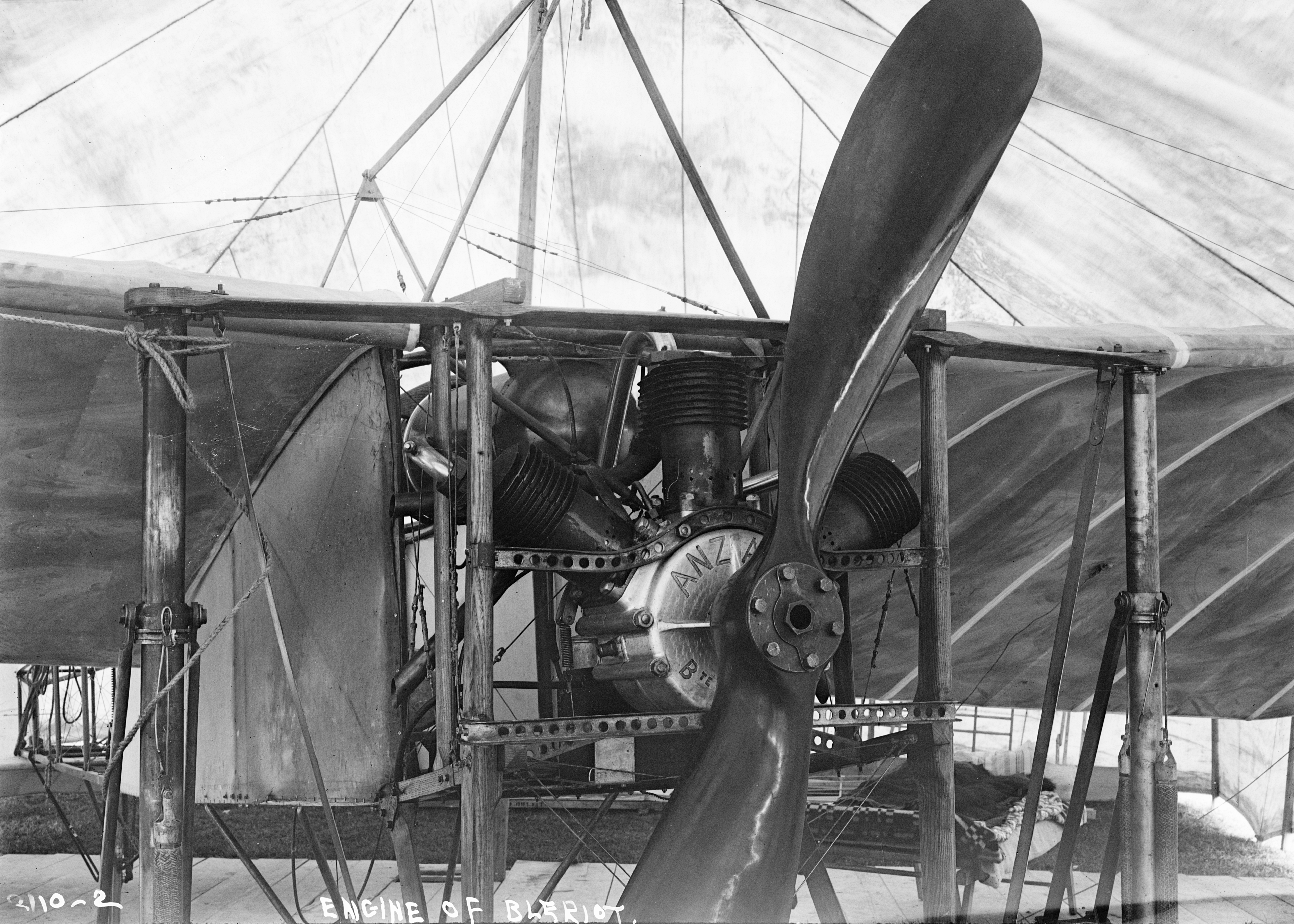Anzani engined Blériot XI similar to the aircraft used for the Channel flight