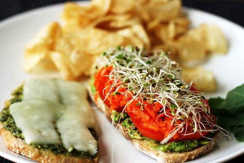 Californian veggie melt sandwich