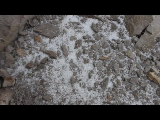 1690 Video of the hail pounding down and accumulating on the John Muir Trail near Mount Muir