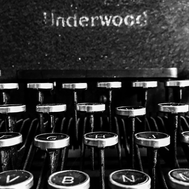 Typewriter black and white