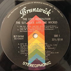 THE LOST GENERATION:THE SLY, SLICK AND THE WICKED(LABEL SIDE-A)