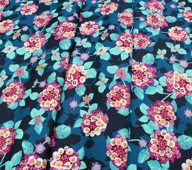 Art Gallery Fabrics Mediterraneo Lantana Teal