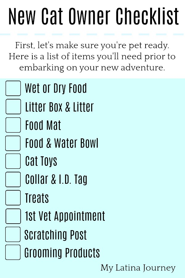 The Essentials for New Cat Owners - Downloadable Checklist 101 #MorrisKnowsBest