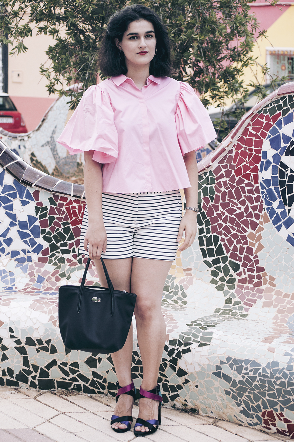 ootd somethingfashion valencia spain bloggers influencers zara pinkshirt dresses summer lookdujour_0070 copia