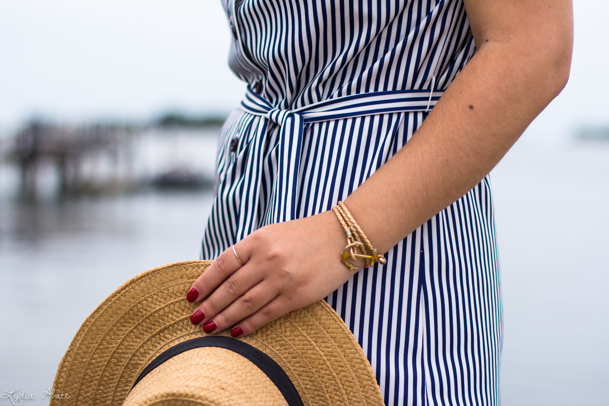 vintage striped dress, straw boater hat, macrame tote -10.jpg